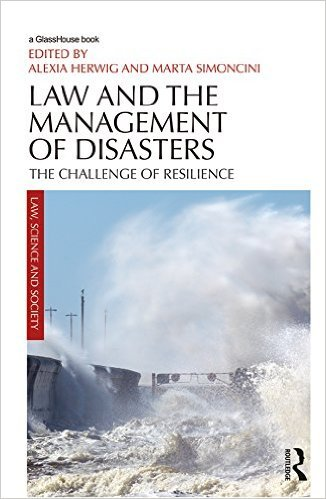 Emanuele Sommario's chapter on International Law and disaster resilience